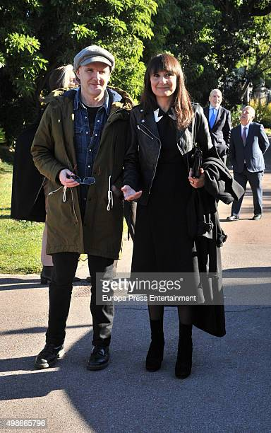 Eva Amaral and Juan Aguirre attend the reception to the Onda Awards 2015 winners photocall on November 24, 2015 in Barcelona, Spain.