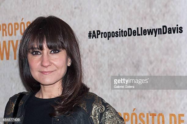 Eva Amaral attends 'A Proposito De Llewyn Davis' Madrid premiere photocall at Matadero Madrid cineteca on December 9 2013 in Madrid Spain