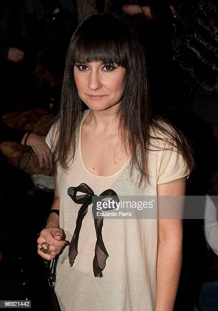 Eva Amaral attends day four of Cibeles Fashion Week at Ifema on February 21 2010 in Madrid Spain