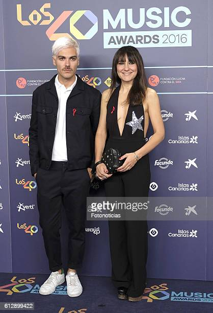 Eva Amaral attends the 40 Principales Awards nominated dinner at Florida Retiro on October 5 2016 in Madrid Spain