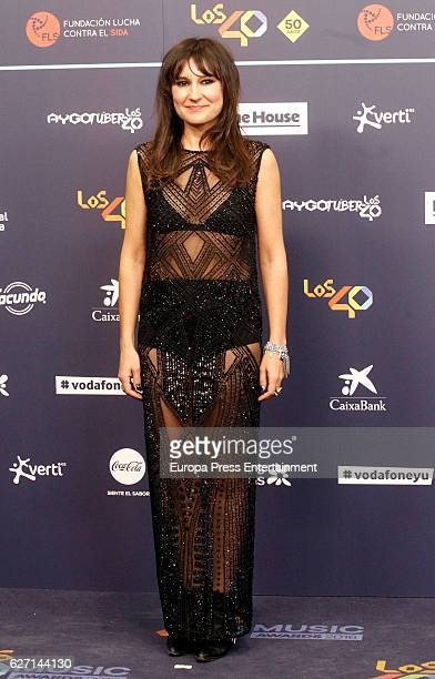 Eva Amaral attends the gala of Los 40 Music Awards 2016 on December 1 2016 in Barcelona Spain