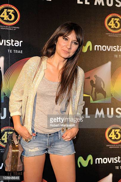 Eva Amaral attends the premiere of 'Los 40 El Musical' at the theater Victoria on September 9 2010 in Barcelona Spain