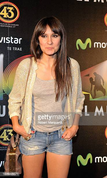 Eva Amaral attends the premiere of 'Los 40. El Musical' at the theater Victoria on September 9, 2010 in Barcelona, Spain.