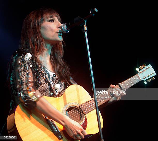 Eva Amaral from Spanish pop band Amaral performs live in concert at La Riviera concerts hall on October 16 2012 in Madrid Spain