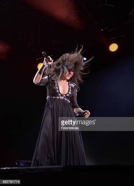Eva Amaral of Amaral performs at the Barclaycard Center on May 19 2016 in Madrid Spain