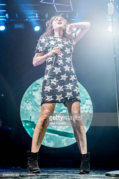 Eva Amaral of Amaral performs in concert at Sant Jordi Club during the Guitar BCN 2016 on June 11 2016 in Barcelona Spain