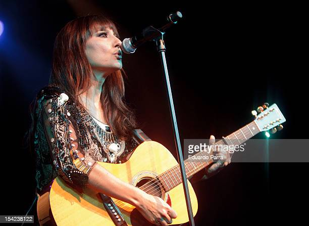 Eva Amaral of Amaral performs live in concert at La Riviera concerts hall on October 16 2012 in Madrid Spain