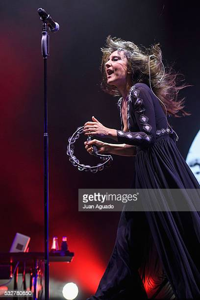 Eva Amaral of Amaral performs on stage at Barclaycard Center in Madrid on May 19, 2016 in Madrid, Spain.