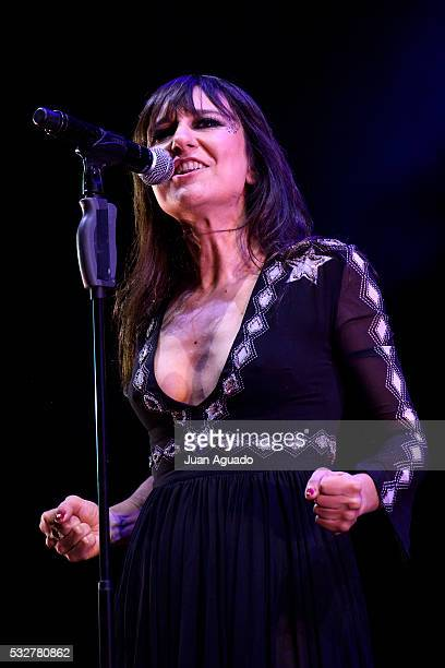 Eva Amaral of Amaral performs on stage at Barclaycard Center in Madrid on May 19 2016 in Madrid Spain