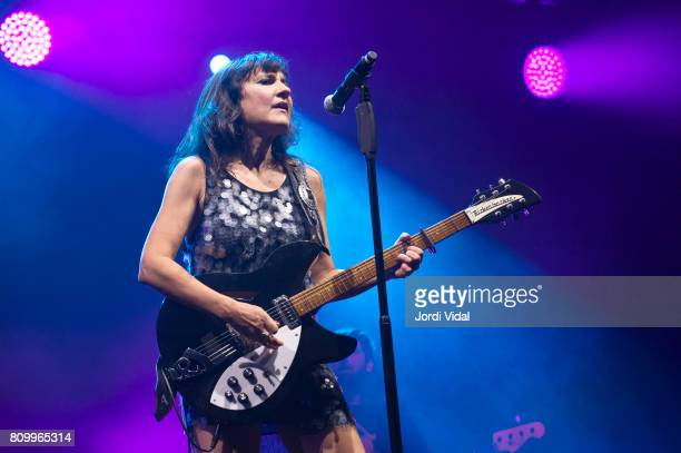 Eva Amaral of Amaral performs on stage at Poble Espanyol on July 6 2017 in Barcelona Spain