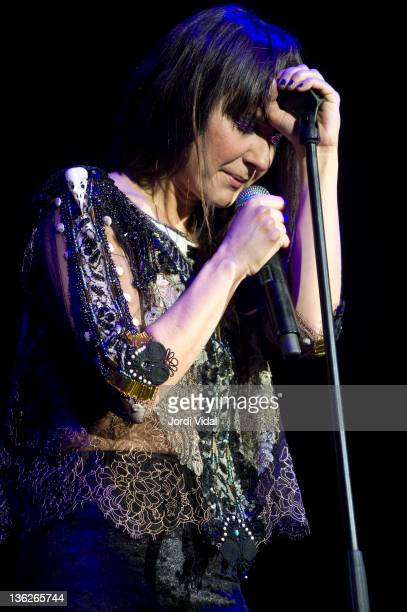 Eva Amaral of Amaral performs on stage during FNAC Music Festival at Palau Sant Jordi on December 29 2011 in Barcelona Spain