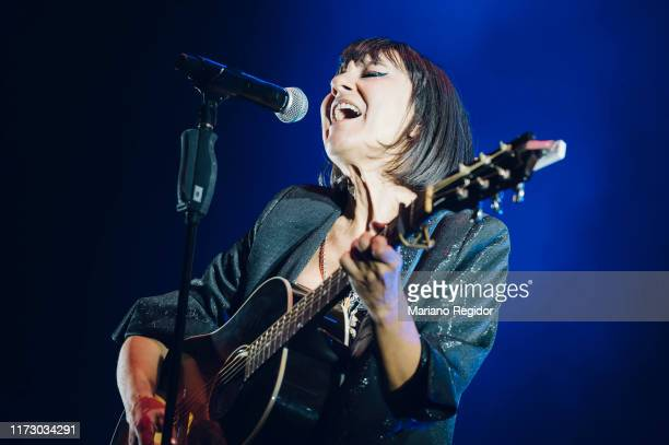 Eva Amaral of Amaral performs onstage during Dcode Festival on September 07, 2019 in Madrid, Spain.