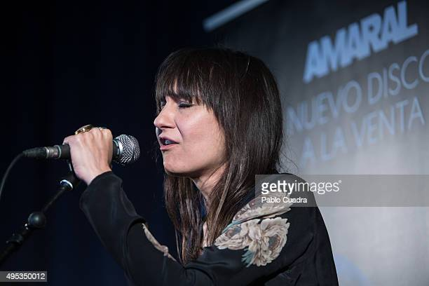 Eva Amaral of 'Amaral' presents her new album 'Nocturnal' on November 2 2015 in Madrid Spain