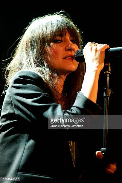 Eva Amaral performs during 'Morente Mas Morente' tribute at La Riviera on February 20 2014 in Madrid Spain