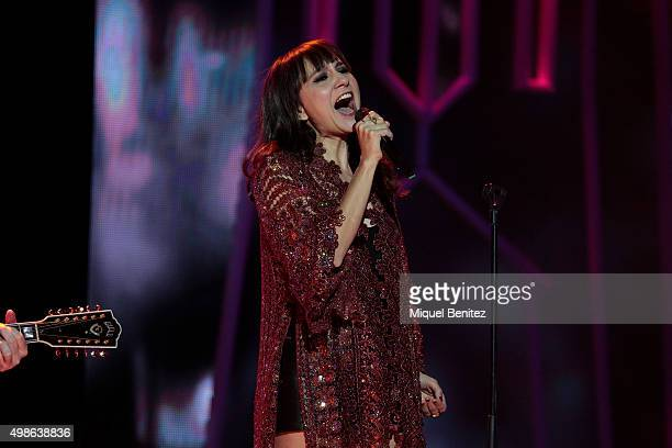 Eva Amaral performs on stage during the 62st Ondas Awards 2015 at CCIB Centre Convencions Internacional Barcelona on November 24 2015 in Barcelona...