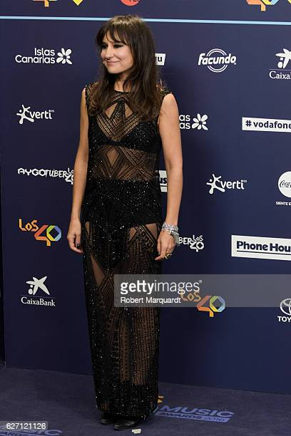 Eva Amaral poses for a photocall during the Los 40 Music Awards 2016 held at the Palau Sant Jordi on December 1 2016 in Barcelona Spain