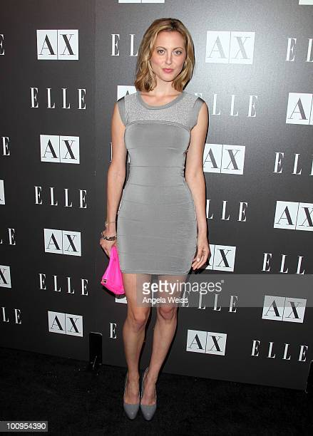 Eva Amurri arrives to the A|X Armani Exchange and ELLE's Joe Zee 'Disco Glam' soiree evening at A|X Robertson Store on May 25 2010 in Los Angeles...