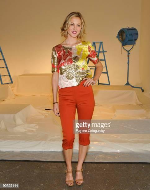 Eva Amurri attends the Chris Benz Spring 2010 during MercedesBenz Fashion Week at DriveIn Studio on September 14 2009 in New York City