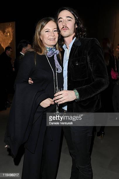 Eva and Daniele Cavalli attend Richard Hambleton Exhibition during Milan Fashion Week Womenswear Autumn/Winter 2010 show on February 25 2010 in Milan...