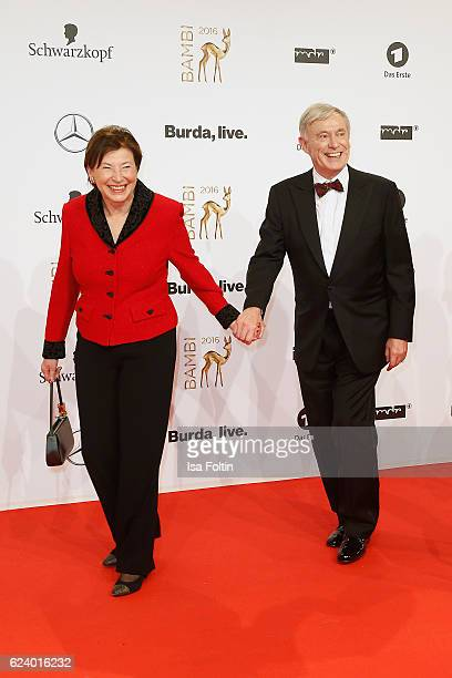 Eva and Horst Koehler arrive at the Bambi Awards 2016 at Stage Theater on November 17 2016 in Berlin Germany