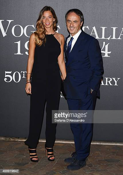Eva and Nerio Alessandri attend Vogue Italia 50th Anniversary Event on September 21 2014 in Milan Italy