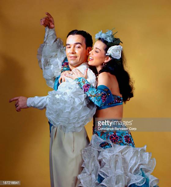 Eva and Raul Reyes married Latin dancers dressed in their Rumba costumes NEw York City 7th December 1945