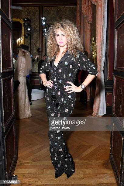 Eva Anri attends the Ulyana Sergeenko Presentation as part of Paris Fashion Week Haute Couture Spring Summer 2018 show as part of Paris Fashion Week...