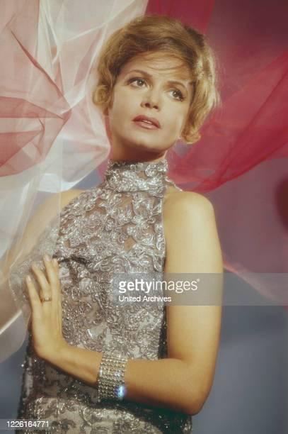 Eva Bartok ungarisch britische Schauspielerin Deutschland frühe 1960er Jahre Hungarian British actress Eva Bartok Germany early 1960s