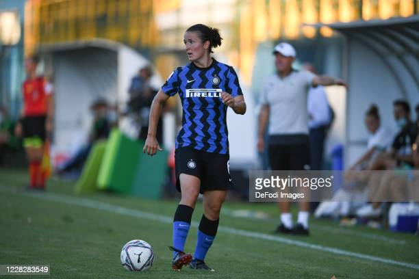 Eva Bartonova of Inter Milan Woman controls the ball during the Serie A Women match between Inter Women's and Sassuolo Women's at Stadio Breda on...