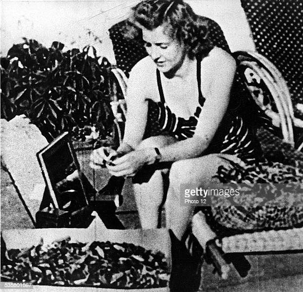 Eva Braun Hitler's girl friend He married her on April 29 1945