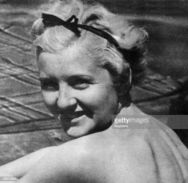 Eva Braun , mistress to Adolf Hitler.