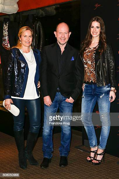 Eva Bruening Brian Rennie and Beate Igel during the launch dinner of Brian Rennie's new collection 'Brian by Brian Rennie' for HSE24 on February 2...
