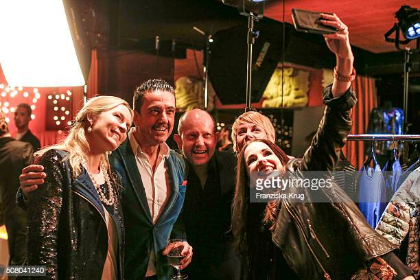 Eva Bruening Ferdinand Rennie Brian Rennie Silke Ketterl and Beate Igel during the launch dinner of his new collection 'Brian by Brian Rennie' for...