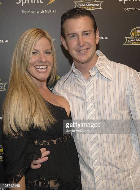 Eva Bryan and Kurt Busch during 2005 NASCAR Nextel Cup Series Champion's Party at Marquee Presented by Sprint at Marquee in New York City New York...