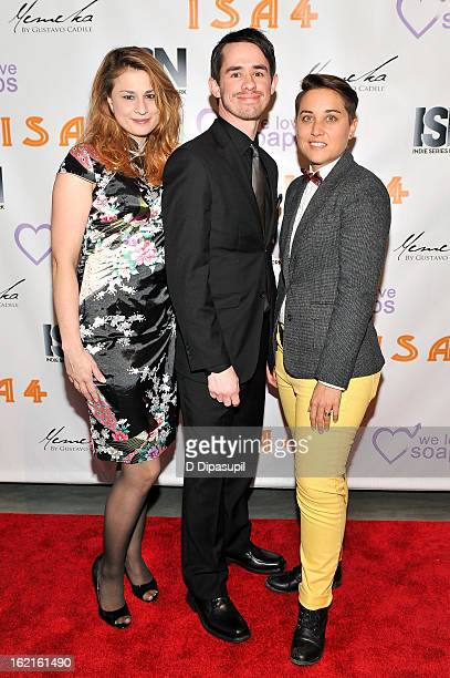 Eva Busch Nate Locklear and Kayla Olson attend the 4th Annual Indie Soap Awards at New World Stages on February 19 2013 in New York City