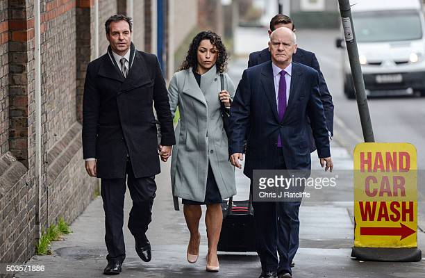 Eva Carneiro and husband Jason De Carteret arrive at Montague Court Croydon for an initial hearing in an employment tribunal on January 6 2016 in...