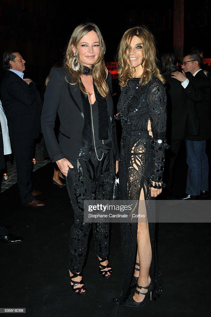 Eva Cavalli and Carine Roitfeld attend the Roberto Cavalli Celebrate 40 Party at 'Les Beaux-Arts' in Paris.