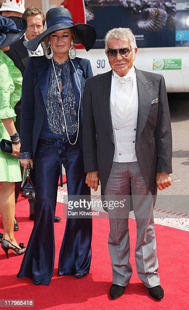Eva Cavalli and husband Roberto Cavalli attend the religious ceremony of the Royal Wedding of Prince Albert II of Monaco to Princess Charlene of...