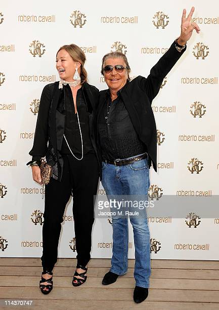 Eva Cavalli and Roberto Cavalli attend the Cavalli Boutique Opening during the 64th Annual Cannes Film Festival on May 18, 2011 in Cannes, France.