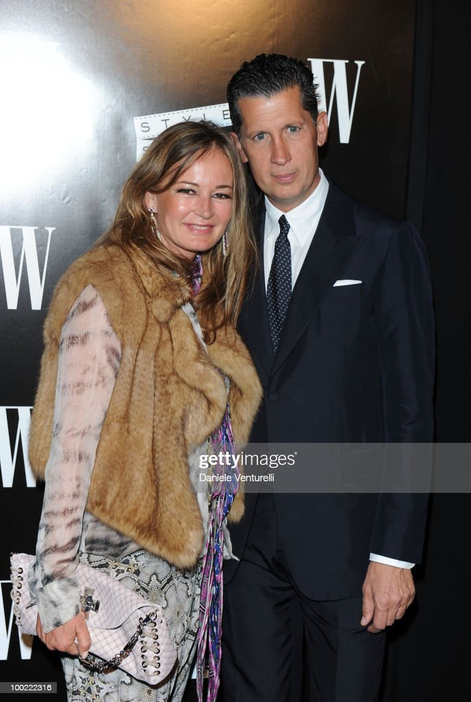 Eva Cavalli and Stefano Tonchi attend the Style Star Party at Carlton Beach during the 63rd Annual International Cannes Film Festival on May 21, 2010 in Cannes, France.