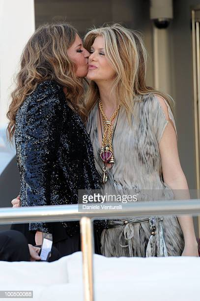 Eva Cavalli and Virginie Mouzat depart for Naomi Campbell's birthday party during the 63rd Annual International Cannes Film Festival on May 22 2010...