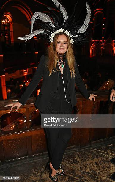 Eva Cavalli attends her birthday party at One Mayfair on October 9 2015 in London England