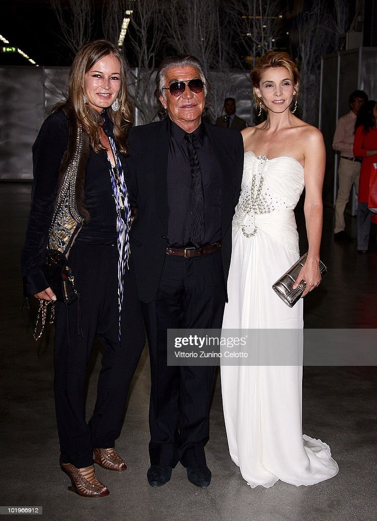 Eva Cavalli, Roberto Cavalli and Clotilde Courau attend the 2010 Convivio held at Fiera Milano City on June 10, 2010 in Milan, Italy.