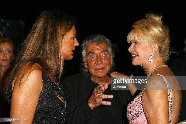 Eva Cavalli Roberto Cavalli and Ivana Trump during amfAR's Cinema Against AIDS Benefit in Cannes Presented by Bold Films Palisades Pictures and The...