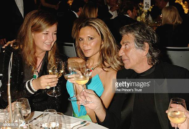 Eva Cavalli Victoria Beckham and Roberto Cavalli attend the after party of the Swarovski Fashion Rocks for The Prince's Trust event at the Grimaldi...