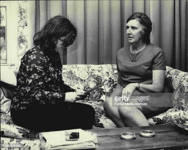 Eva Cax from Women's Electoral Lobby interviewing Margaret Whitlam at her Cabramatta home November 23 1972