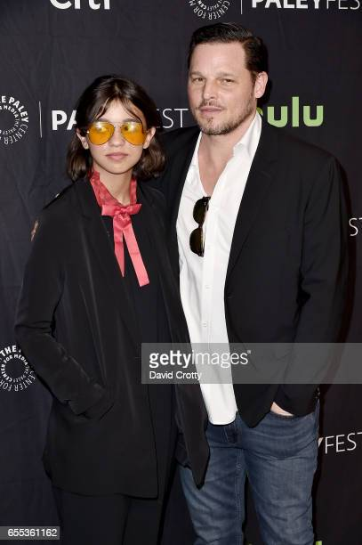 Eva Chambers and Justin Chambers attends PaleyFest Los Angeles 2017 Grey's Anatomy at Dolby Theatre on March 19 2017 in Hollywood California