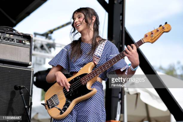 Eva Chambers of Pinky Pinky performs on Who Stage during the 2019 Bonnaroo Arts And Music Festival on June 14 2019 in Manchester Tennessee