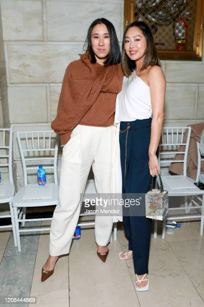 Eva Chen and Amy Song attend Oscar De La Renta - Front Row - February 2020 - New York Fashion Week on February 10, 2020 in New York City.