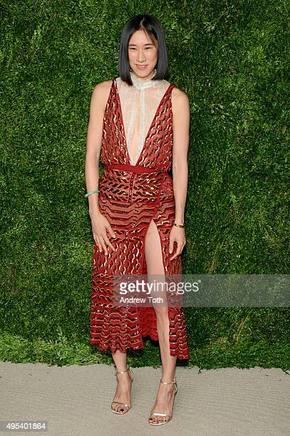 Eva Chen attends the 12th annual CFDA/Vogue Fashion Fund Awards at Spring Studios on November 2 2015 in New York City